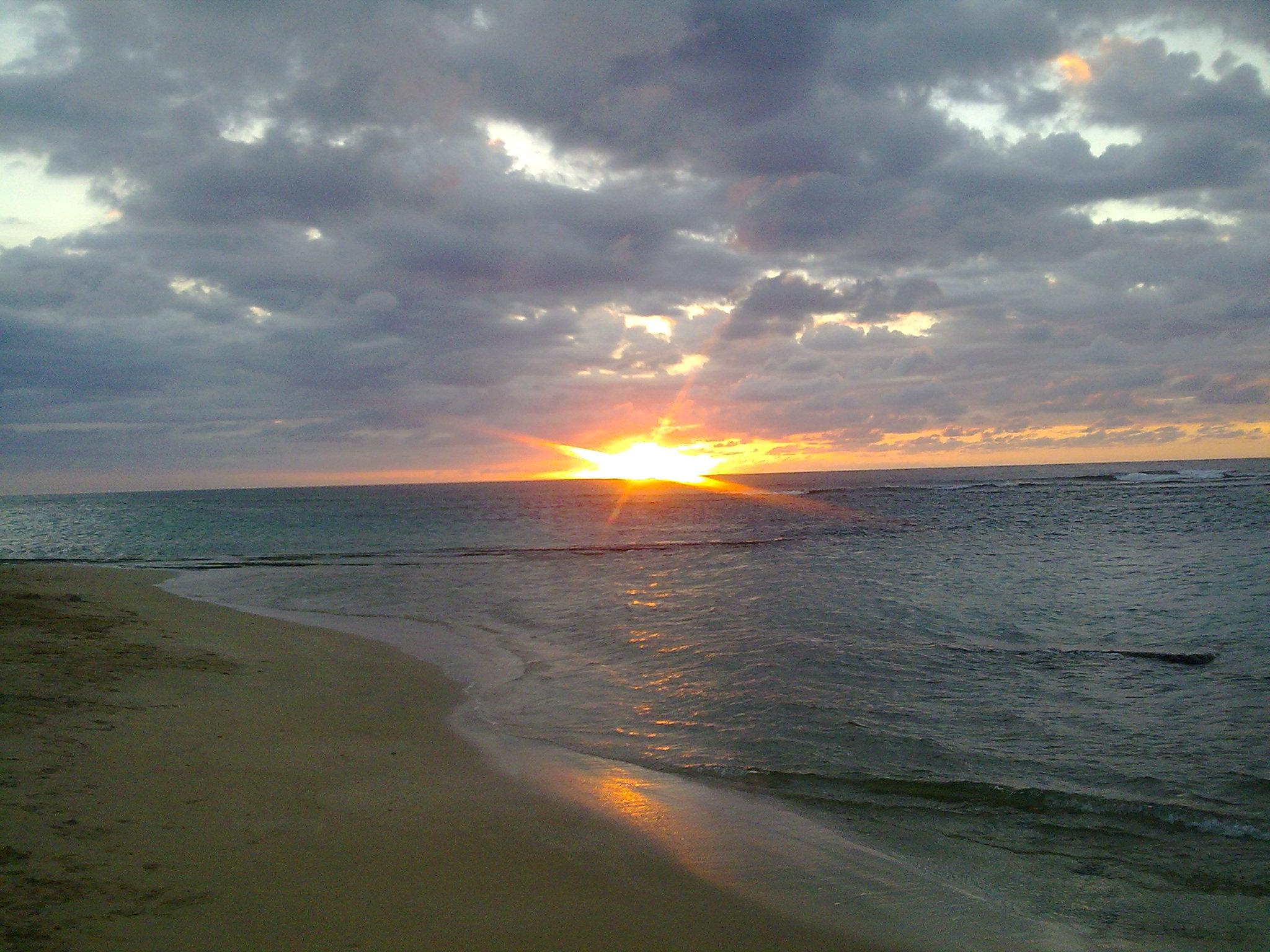 Beautiful sunset at Shacks Beach